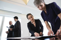 Business group conferrring over company strategy. Royalty Free Stock Images