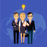 Business group director chief boss. The company Royalty Free Stock Images