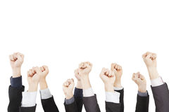 Business group with fist gesture Stock Photography
