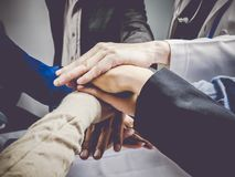 Business group with hands together.Teamwork concept and Business. Concept Stock Images