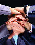 Business group with hands together Royalty Free Stock Photo