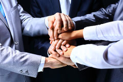 Business group with hands together Royalty Free Stock Photography