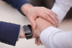 Business group with hands together -. Teamwork concepts Stock Images
