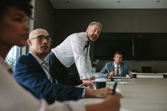 Business group having discussion at office meeting Royalty Free Stock Photos