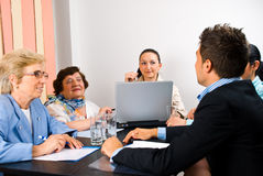 Business group having meeting Stock Photography
