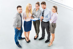 Business group, high angle view Royalty Free Stock Photography