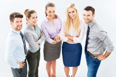 Business group, high angle view Royalty Free Stock Image