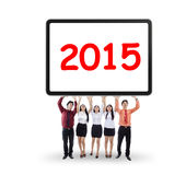 Business group hold number 2015 Royalty Free Stock Photos