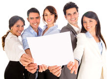 Business group with a document Stock Images