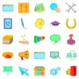 Business group icons set, cartoon style. Business group icons set. Cartoon set of 25 business group vector icons for web isolated on white background Stock Photos