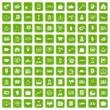 100 business group icons set grunge green. 100 business group icons set in grunge style green color isolated on white background vector illustration royalty free illustration