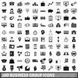100 business group icons set, simple style. 100 business group icons set in simple style for any design vector illustration Stock Illustration
