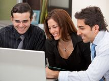 Business group on a laptop Royalty Free Stock Photography