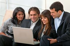 Business group with a laptop Royalty Free Stock Image