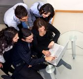 Business group with laptop Stock Image