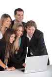Business group with a laptop Royalty Free Stock Photography