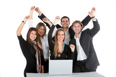 Business group with a laptop Royalty Free Stock Images
