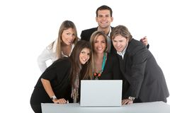 Business group with a laptop Stock Photography