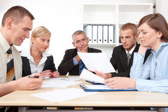 Business group at the meeting Royalty Free Stock Photos
