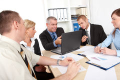 Business group at the meeting Royalty Free Stock Photography