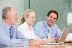 Business group meeting Stock Photo