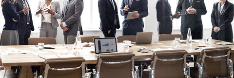 Business Group Meeting Discussion Strategy Working Concept Stock Photos