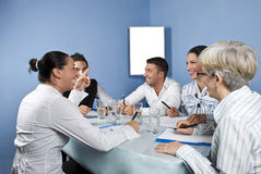 Business group meeting having fun royalty free stock photography