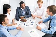 Business group meeting portrait Royalty Free Stock Image