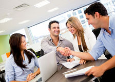 Business group at the office Royalty Free Stock Photos