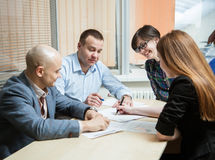Business group people discussing a new project Stock Photography