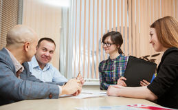 Business group people discussing a new project Royalty Free Stock Photo