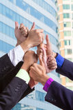 Business group people hands together Stock Image