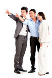 Business group pointing away Stock Photo