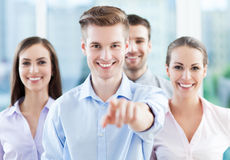 Business group pointing at you Royalty Free Stock Images