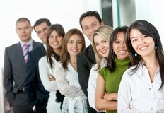 Business group in a row Stock Image