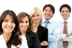Business group in a row Royalty Free Stock Photography