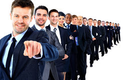 Business group in a row. Royalty Free Stock Photos