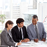 A Business group showing diversity discussing. A new strategy in a meeting Royalty Free Stock Photography