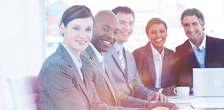 Business group showing diversity in a meeting. Business concept Royalty Free Stock Images