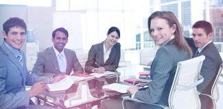 Business group showing diversity smiling at the camera Stock Photography
