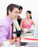 Business group showing ethnic diversity Stock Photo