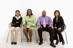 Business group sitting Royalty Free Stock Photos