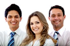 Business group smiling Royalty Free Stock Photography