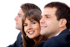 Business group smiling Stock Photography