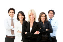 Business group smiling Stock Photos