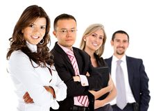Business group smiling Stock Image