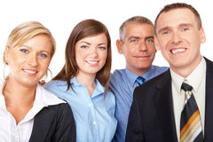 Business group standing in row Royalty Free Stock Photography