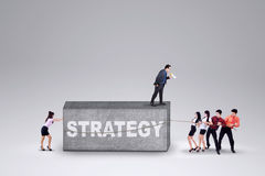 Business group and a strategy Royalty Free Stock Photos