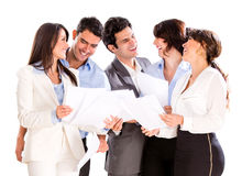 Business group talking Stock Image