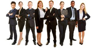 Business group as consulting team royalty free stock image